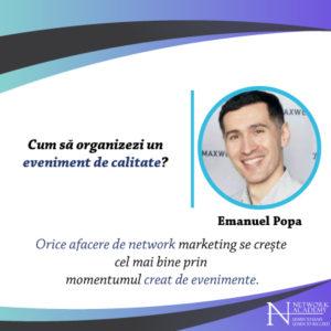 Emanuel Popa, eveniment de calitate, curs, material audio